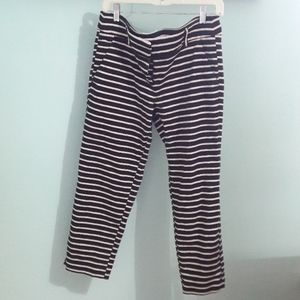 LOFT black and white striped capris